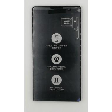 Дисплей (Модуль) для Lenovo P90 в сборе с тачскрином и рамкой Черный