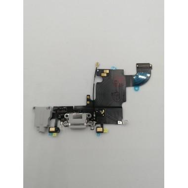 Шлейф для Apple iPhone 6S на системный разъем + микрофон Светло-Серый