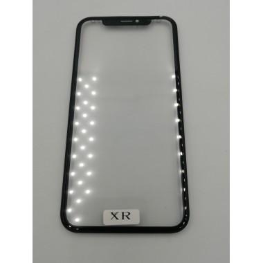Стекло для дисплея Apple iPhone XR в сборе с рамкой, OCA Черное