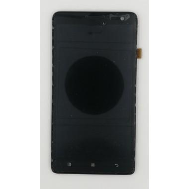 Дисплей (Модуль) для Lenovo S856 в сборе с тачскрином и рамкой Черный