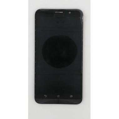 Дисплей (Модуль) для Asus ZenFone 2 ZE550ML в сборе с тачскрином и рамкой Черный