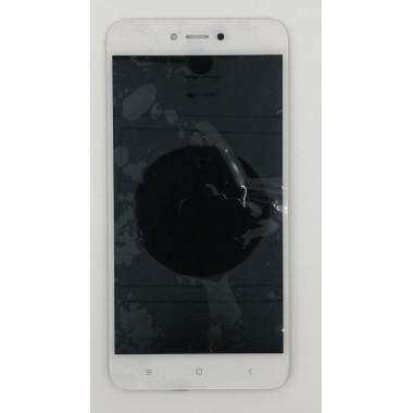 Дисплей (Модуль) для Xiaomi Redmi Note 5A в сборе с тачскрином Белый