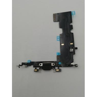 Шлейф для Apple iPhone 8 Plus на системный разъем + микрофон Черный