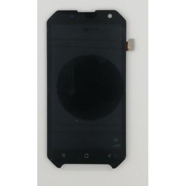Дисплей (Модуль) для Blackview BV6000 в сборе с тачскрином Черный