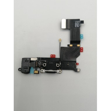 Шлейф для Apple iPhone 5S на системный разъем + микрофон Черный