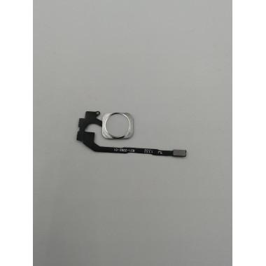 Шлейф для Apple iPhone 5S/SE на кнопку Home в сборе с толкателем Белый
