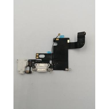 Шлейф для Apple iPhone 6 на системный разъем + микрофон Белый