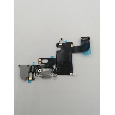 Шлейф для Apple iPhone 6 на системный разъем + микрофон Серый