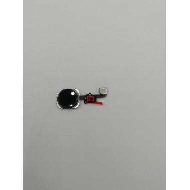 Шлейф для Apple iPhone 6S/6S Plus на кнопку Home в сборе с толкателем Черный