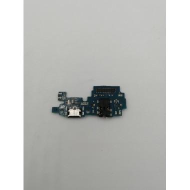 Шлейф для Samsung Galaxy A21s (SM-A217F) плата системный разъем/разъем гарнитуры/микрофон